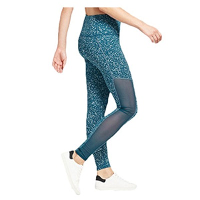 Premium High-Waisted Mesh Reflective Splatter Leggings