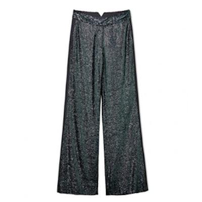 Maida Wide-Leg Fluid Sequin Pants