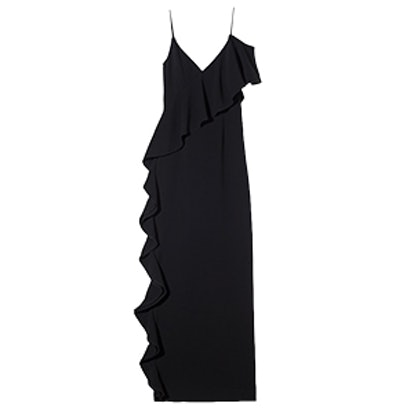 Moore Ruffle-Detail Stretch-Crepe Gown