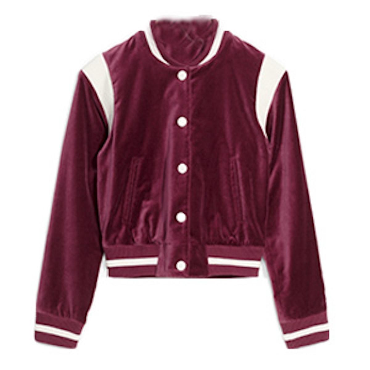 Velvet Baseball Jacket