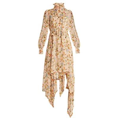 Martha Floral-Print Silk-Georgette Dress