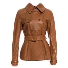 Black Label Belted Leather Jacket