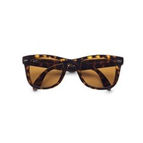 Folding Square Wayfarer Sunglasses