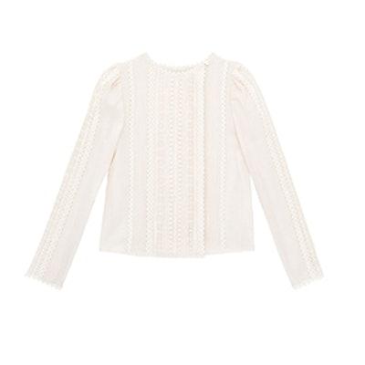 La Vie Wool Gauze & Lace Top