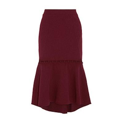 Cortona Fluted Crepe Midi Skirt