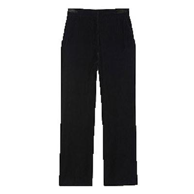 Wide-Leg Velvet Trousers