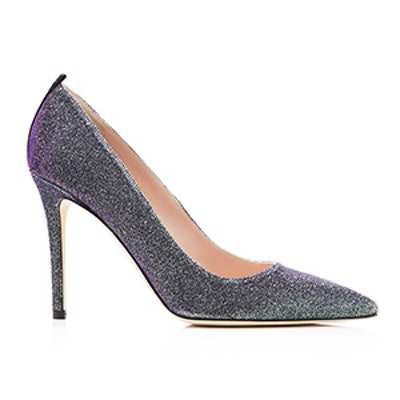 Fawn Metallic Glitter Pointed Toe High Heel Pumps