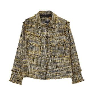 Tweed Jacket With Frayed Edges