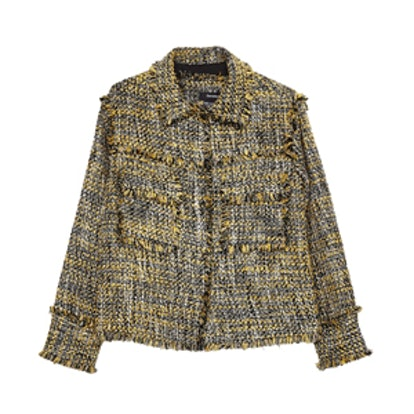 Tweed Jacket With Frayed Edges