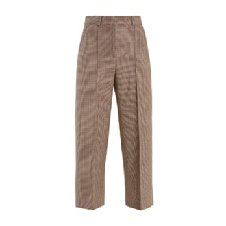 Warwick Hound's-Tooth Wool Cropped Trousers