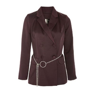 Chain Belted Jacket