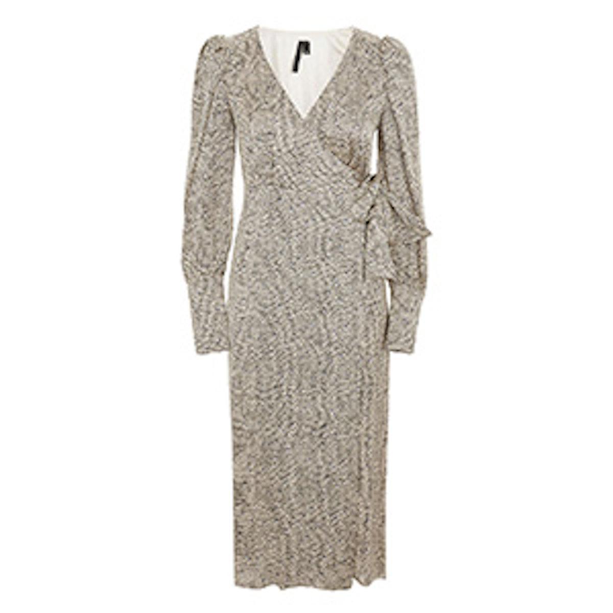 Mini Spot Wrap Dress