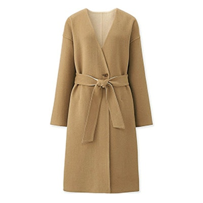 Double Face Collarless Coat