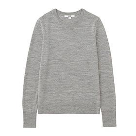 Women Extra Fine Merino Crewneck Sweater