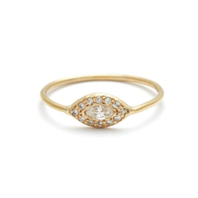 Yellow Gold Diamond Eye Ring