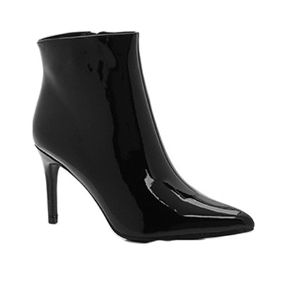 Abbie Patent Pointed Toe Ankle Boot