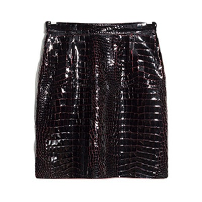 Croco Leather Skirt