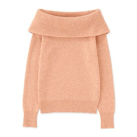 Lamswool Blend Cowlneck Sweater