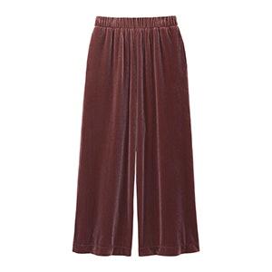 Women Velour Wide Pants