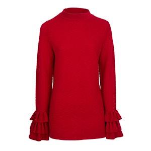 Textured Bell Sleeve Sweater
