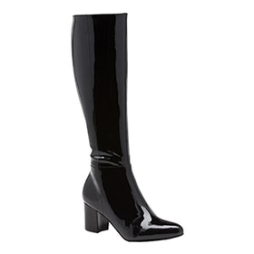 Citia Patent Leather Block Heel Tall Boot