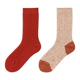 HEATTECH Cable Knit Socks