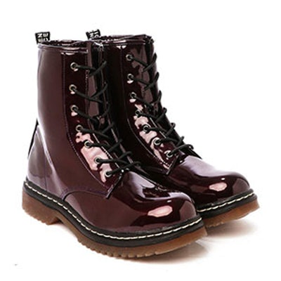 Working Girl Patent Vegan Leather Boot