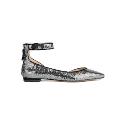 Evana Sequined D'Orsay Flats