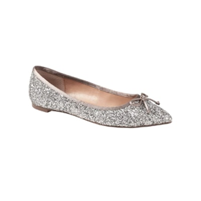 Pointed-Toe Robin Glitter Ballet Flat