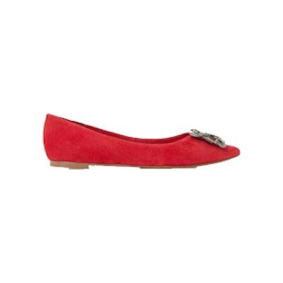 Briela Brooch Trim Flat Shoe