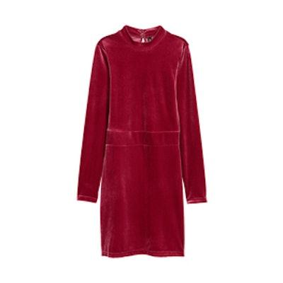 Fitted Velvet Dress