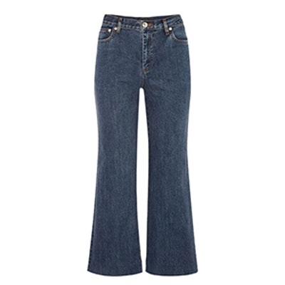 Sailor Cropped High-Rise Straight-Leg Jeans