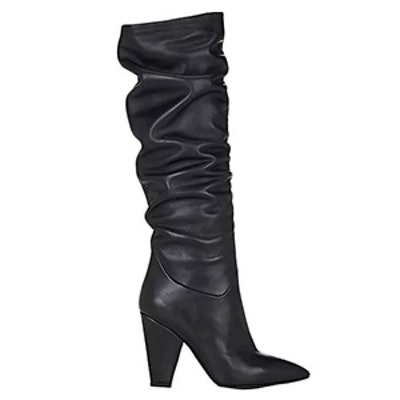 Leather Slouchy Knee Boots
