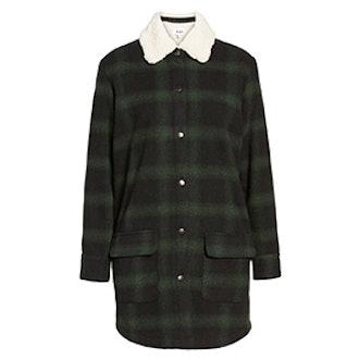 Bradley Fleece Lined Plaid Coat