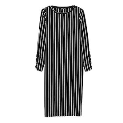 Midi Dress With Criss Cross Sleeve Detail