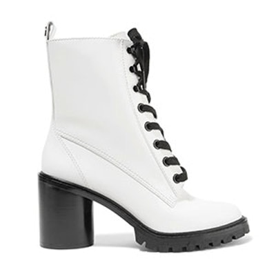 Ryder Lace-Up Polished-Leather Ankle Boots