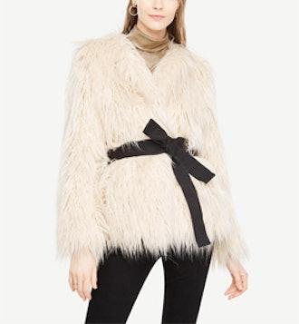 Faux Fur Belted Jacket