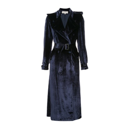 Velvet Trench Coat Robe