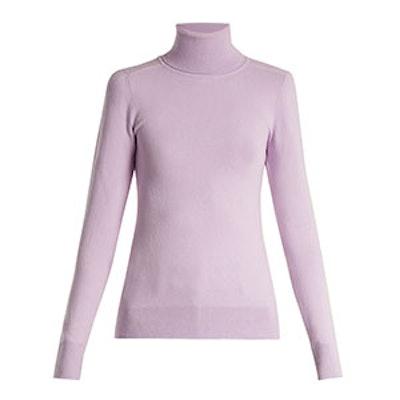 Roll-Neck Fine-Knit Sweater