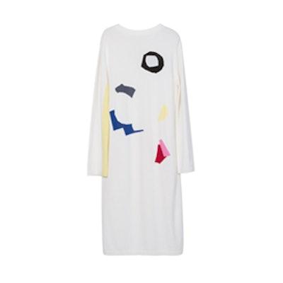 Geometric Print Long Sweater Dress