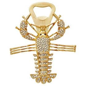 Lobster Bottle Opener in Gold/Crystal