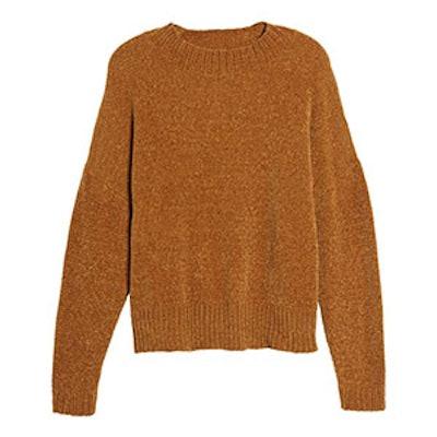 Chenille Funnel Neck Sweater