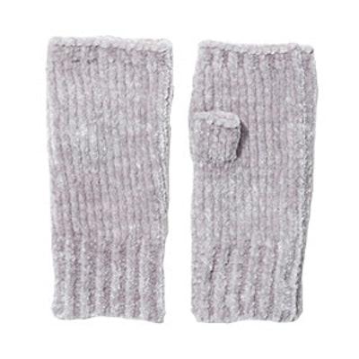Ribbed Chenille Fingerless Gloves