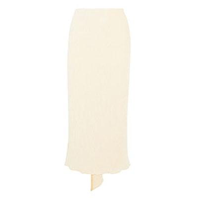Asymmetric Chenille Midi Skirt