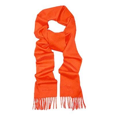 Orange Cashmere Scarf