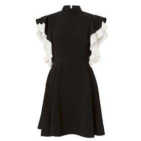 Reina Ruffle Sleeve Mini Dress