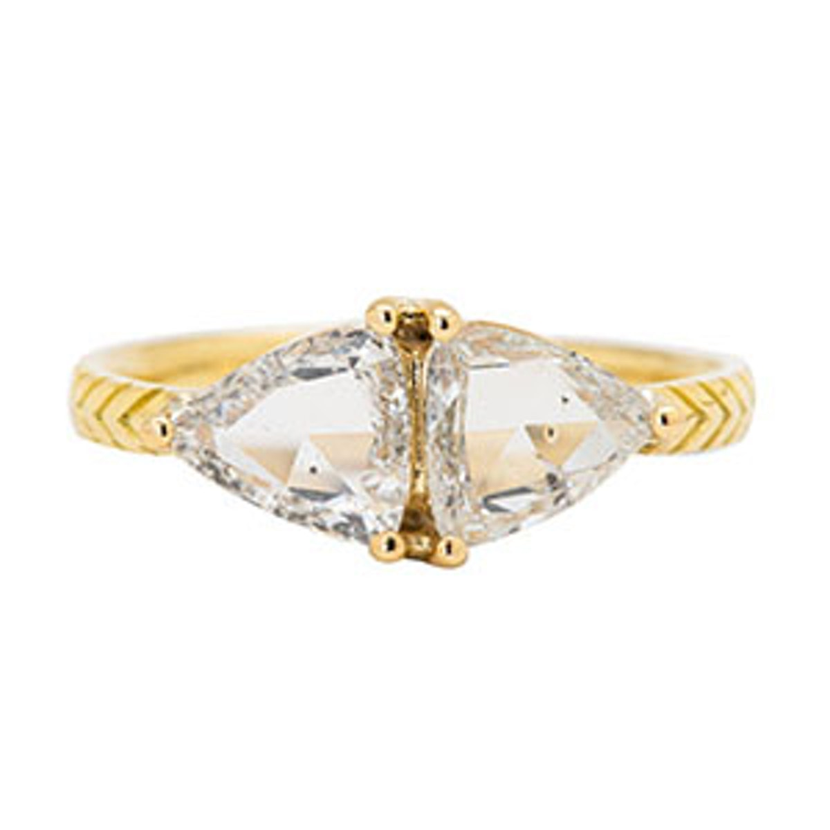 Salt & Pepper Kirk Diamond Ring in 18k Yellow Recycled Gold