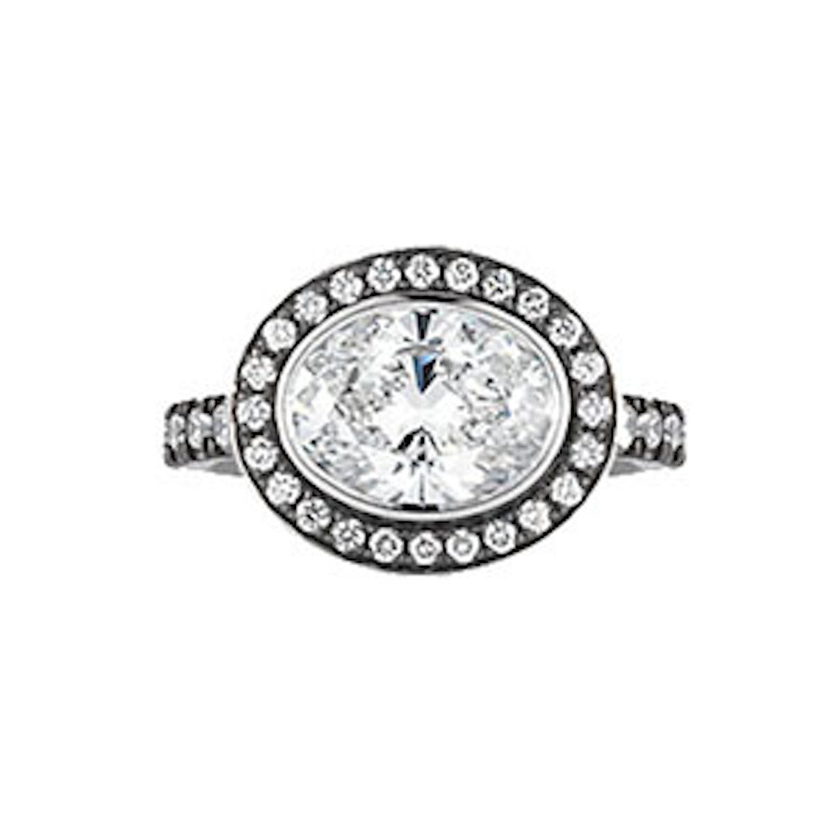 Diamond Oval Engagement Ring