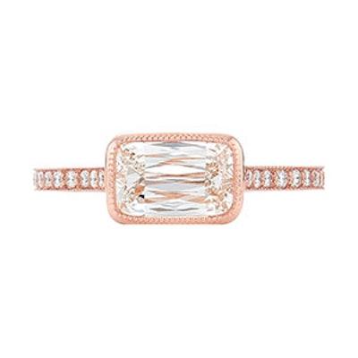Ashoka Cut Diamond Engagement Ring in 18k Rose Gold