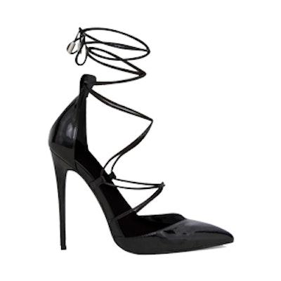 Black Pointed Patent Stiletto Heels